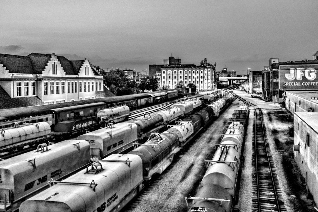 Rail yard by Sharon Popek