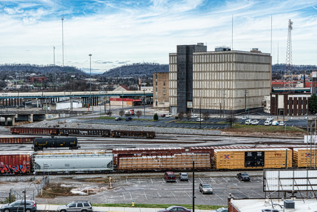 Knoxville Rail yard by Sharon Popek