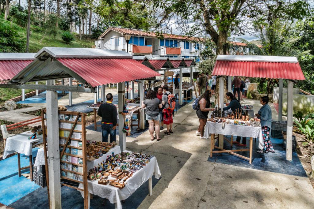 The artist market at La Terrazas Complex